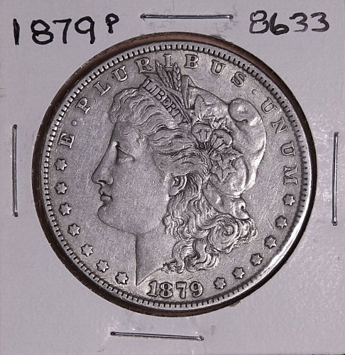 1879 P MORGAN SILVER DOLLAR 8633 F15