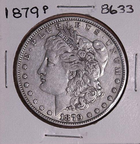 1879 P MORGAN SILVER DOLLAR 8633 F15