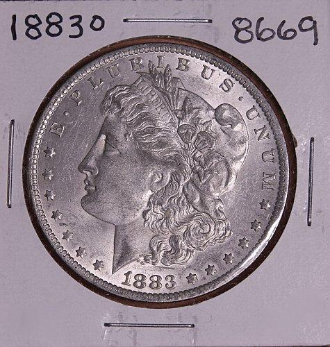 1883 O MORGAN SILVER DOLLAR 8669 AU