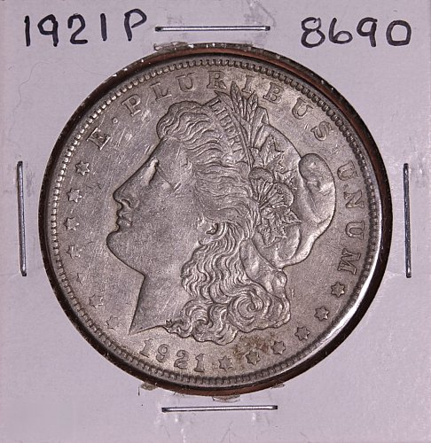 1921 P MORGAN SILVER DOLLAR 8690 F15