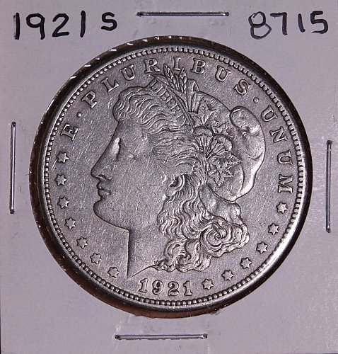 1921 S MORGAN SILVER DOLLAR 8715 F15