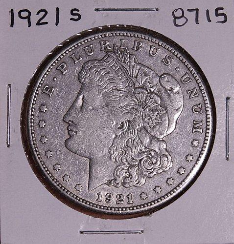 1921 S MORGAN SILVER DOLLAR 8715 F15