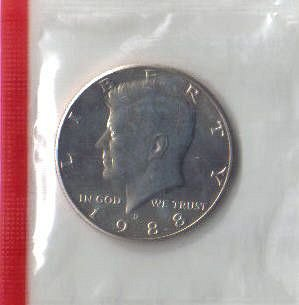 1988   D    KENNEDY HALF DOLLAR