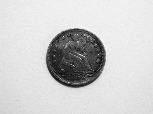 1854-P Silver Seated Liberty Half Dime