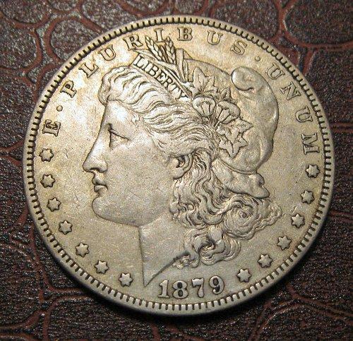 1879 P MORGAN SILVER DOLLAR, NICE CIRCULATED