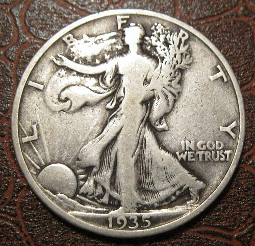 1935 S Walking Liberty Half Dollar,