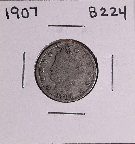 1907 P  LIBERTY NICKEL 8224