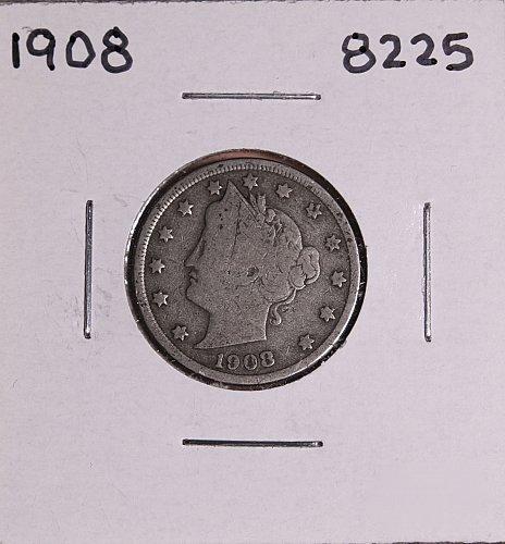 1908 P  LIBERTY NICKEL 8225