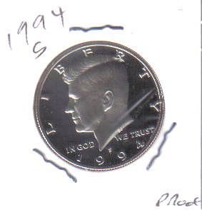 1994 S  PROOF  KENNEDY HALF DOLLAR