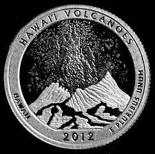 2012 S   SILVER  PROOF  HAWAII VOLCANOES  WASHINGTON QUARTER