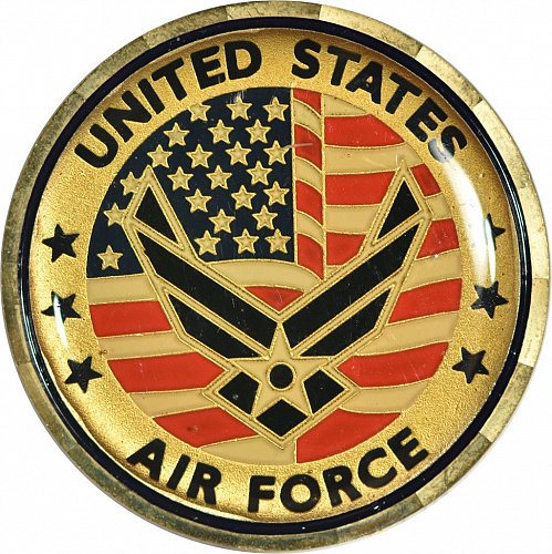 Challenge Coin, U. S. Air Force Core Values, (Item 410)