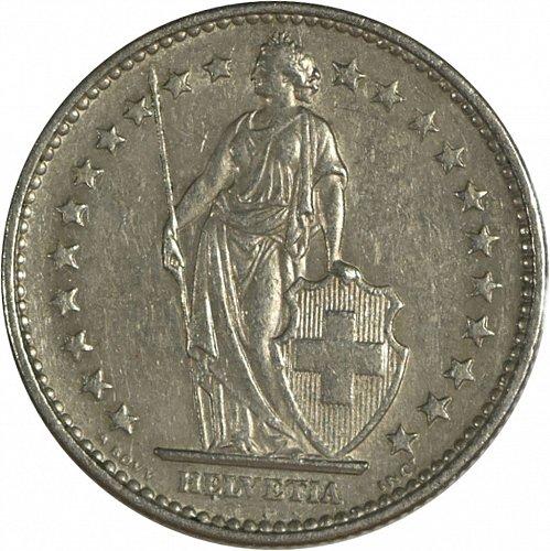 Switzerland, 1968, 2 Francs, (Item 415)