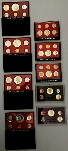 1976-1984 UNITED STATES PROOF SETS