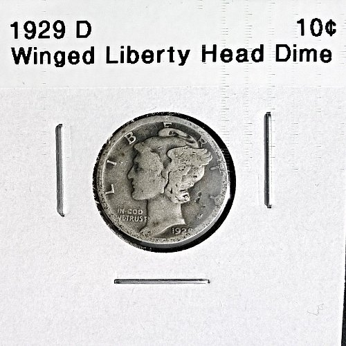 1929 D Winged Liberty Head Dime