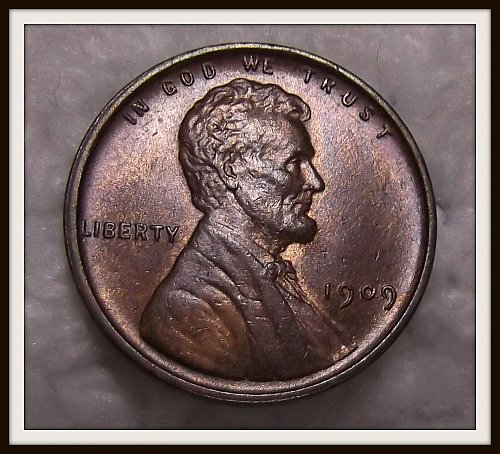 Brown 1909 - P V.D.B. Lincoln Wheat Cent (BU)