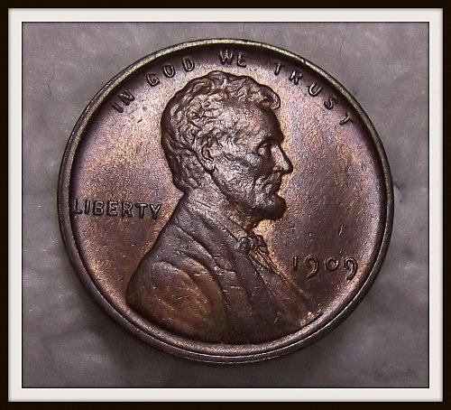 Brown 1909 - P V.D.B. Lincoln Wheat Cent (BU)