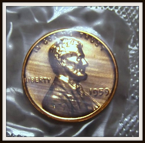 1959 Red Proof Lincoln Memorial Cent