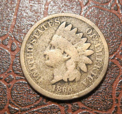 1860 ROUND BUST INDIAN HEAD CENT