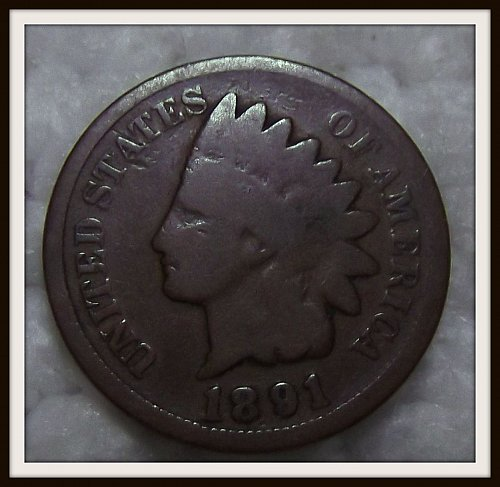 1891 - P Indian Head Cent
