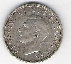 1943 Great Britain Half Crown