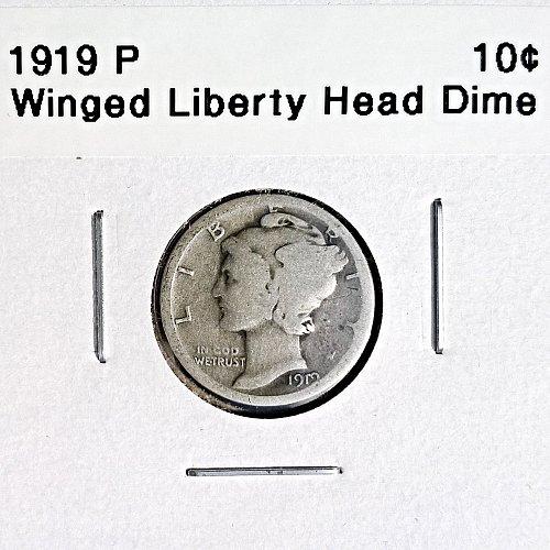 1919 P Winged Liberty Head Dime