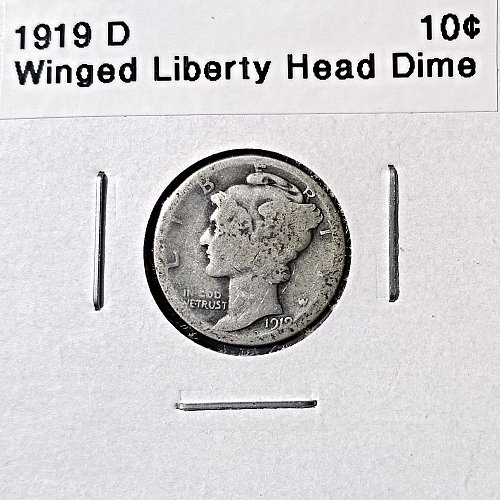 1919 D Winged Liberty Head Dime