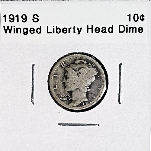1919 S Winged Liberty Head Dime