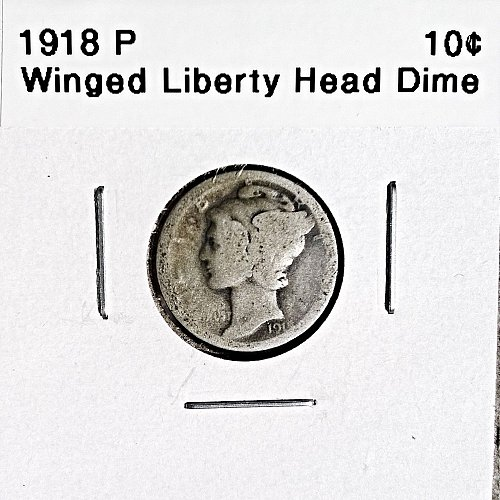 1918 P Winged Liberty Head Dime