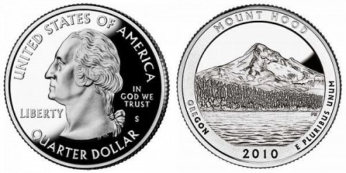 2010 S  SILVER PROOF MOUNT HOOD  NATIONAL PARK
