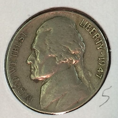 1947-P Jefferson Nickel (41364)