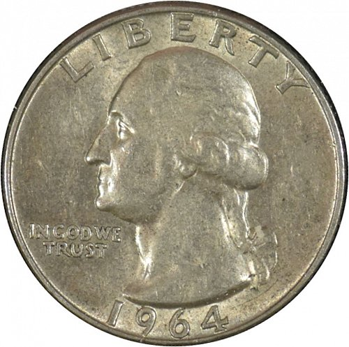 1964 D Washington Quarter,  (Item 335)
