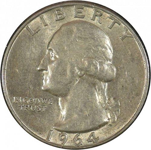 1964 D Washington Quarter,  (Item 335)