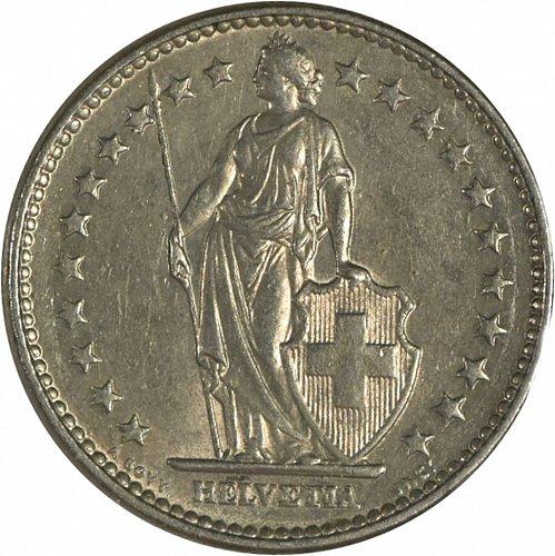 Switzerland, 1968, 2 Francs,  (Item 418)