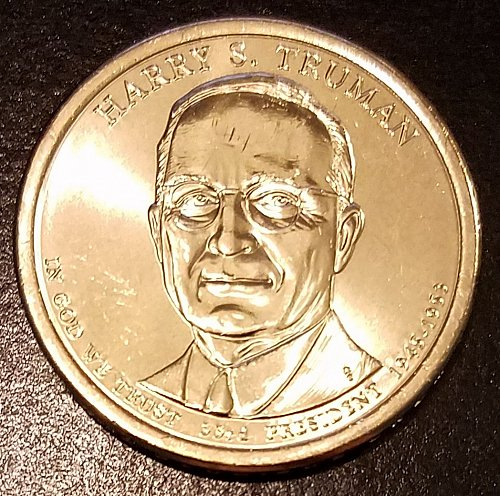 2015-D Harry S Truman Presidential Dollar - From US Mint Roll (6623)