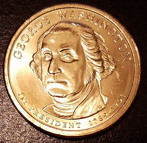 2007-P George Washington Presidential Dollar - From Mint Roll (6625)