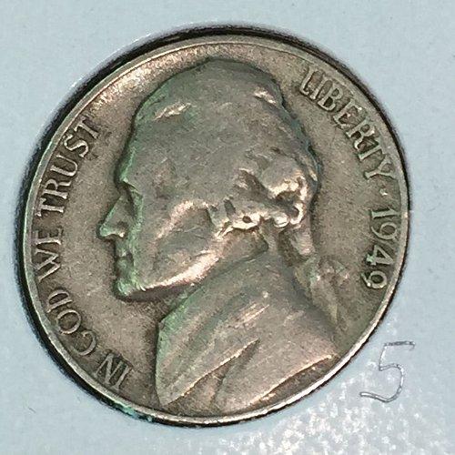1949-D Jefferson Nickel (10458)