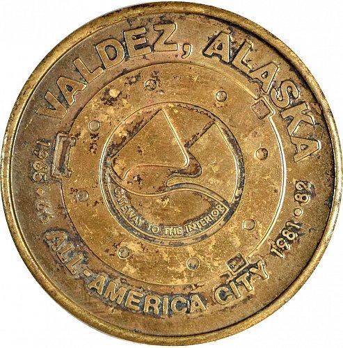 Souvenier Coin, Valdez, Alaska, circa 1982,  (Item 405)