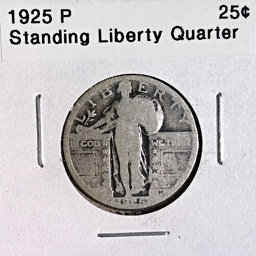 1925 P Standing Liberty Quarter - 4 Photos!