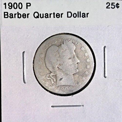 1900 P Barber Quarter Dollar - 4 Photos!