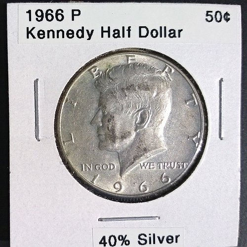 1966 P Kennedy Half Dollar - 4 Photos!