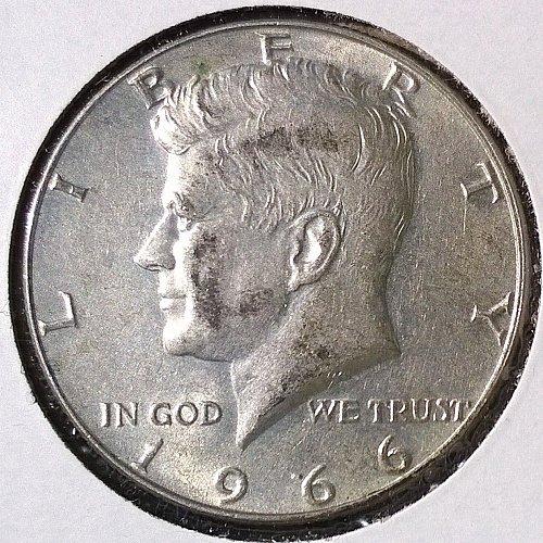 1966 P Kennedy Half Dollar - 4 Photos!