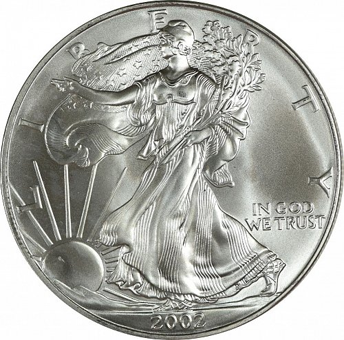 2002 Silver American Eagle, (Item 433)