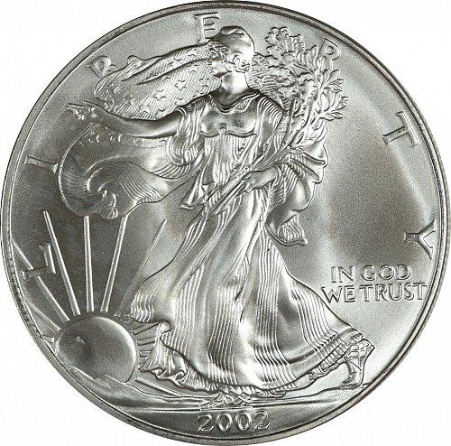 2002 Silver American Eagle, (Item 433)
