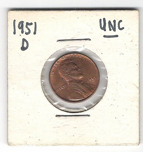 1951 P Lincoln Wheatie in Uncirculated Condition