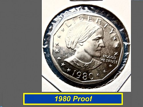 1980 PROOF Susan B. Antony Dollar $1 (#5316a)