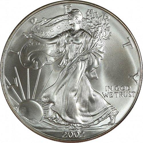 2002 Silver American Eagle, (Item 432)