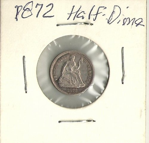 1872 P Seated Liberty Half Dime Type 4 Nice