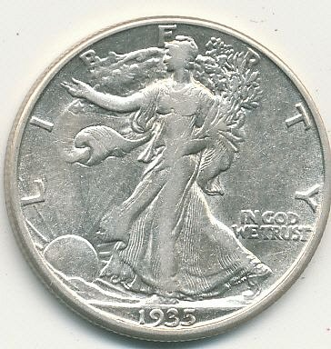 A very nice 1935D Walking Liberty Half Dollar