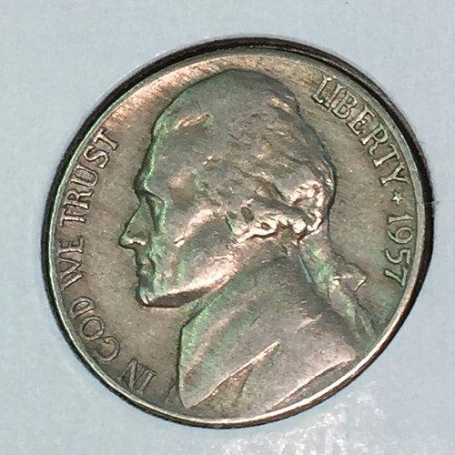 1957-D Jefferson Nickel (41417)