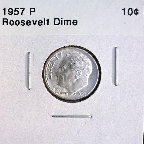 1957 P Roosevelt Dime